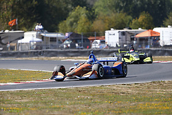 September 2, 2018 - Portland, Oregon, United Stated - SCOTT DIXON (9) of New Zealand battles for position during the Portland International Raceway at Portland International Raceway in Portland, Oregon. (Credit Image: © Justin R. Noe Asp Inc/ASP via ZUMA Wire)