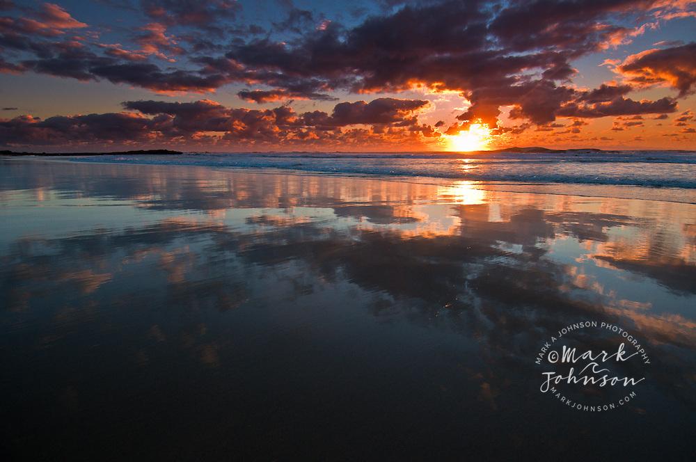 Sunrise at Frenchman's Beach, North Stradbroke Island, Queensland, Australia