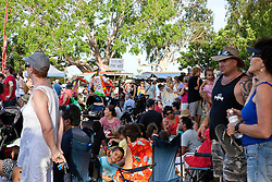 The crowd at the 10 December 2011 Community Rally at Town Beach in Broome.