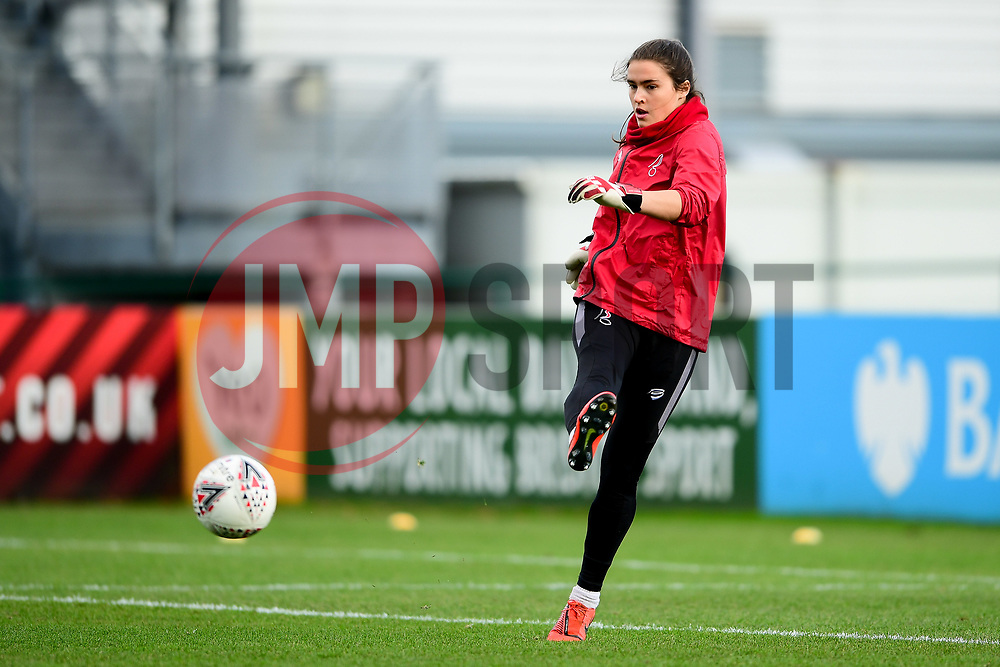 Eartha Cumings of Bristol City warms up prior to kick off - Mandatory by-line: Ryan Hiscott/JMP - 08/12/2019 - FOOTBALL - Stoke Gifford Stadium - Bristol, England - Bristol City Women v Birmingham City Women - Barclays FA Women's Super League