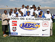 Hampton Lady Pirate win the 2006 MEAC Track and Field Championships in Greensboro, North Carolina.  May 07, 2006  (Photo by Mark W. Sutton)