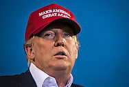 Aug. 21. 2015 Mobile, AL, Republican presidential candidate and business mogul Donald Trump speaks at his campaign pep rally in Ladd Peebles Stadium. About 20 thousand came to the Ladd-Peebles Stadium to attend Trumps campaign pep rally though 40000 were expected. . People were asked not to bring signs.