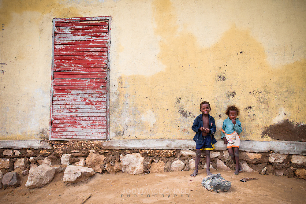 Two local children in remote Lavanono, on the south coast of Madagascar.  A place with no running water or power, one of the most primtive places I've ever visited.