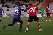 \during the EFL Sky Bet League 1 match between Lincoln City and Tranmere Rovers at Sincil Bank, Lincoln, United Kingdom on 14 December 2019.