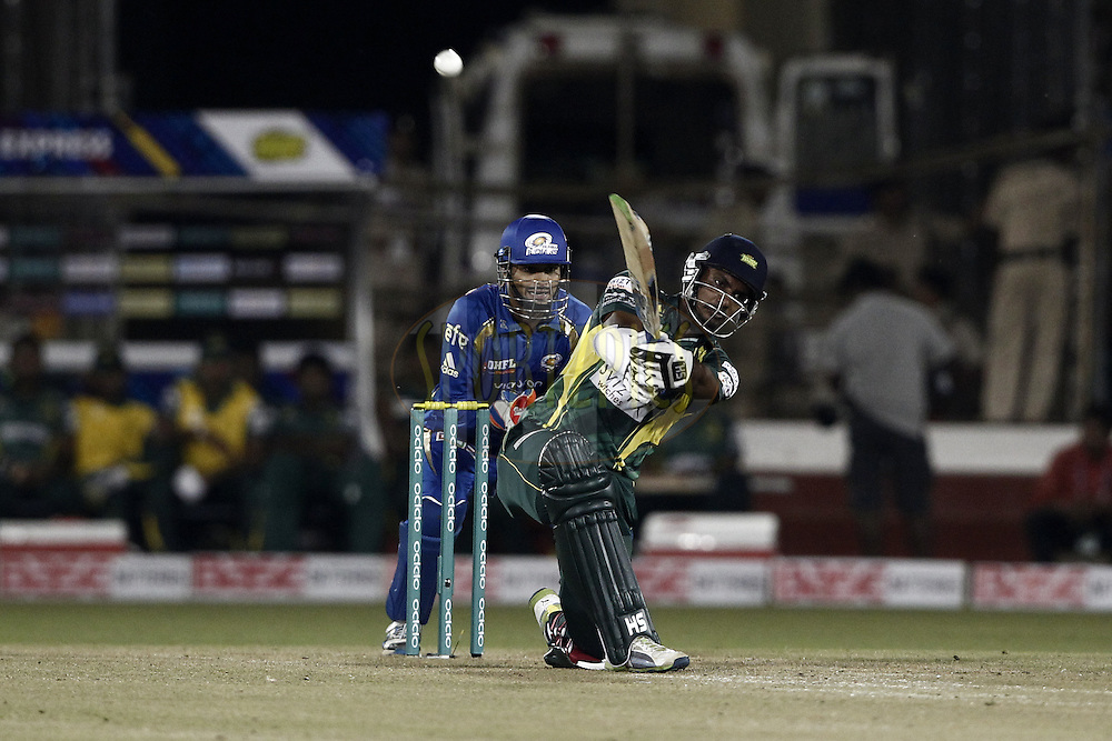 Danushka Gunatilake of the SOUTHERN EXPRESS during the qualifier 4 match of the Oppo Champions League Twenty20 between the Mumbai Indians and the Southern Express held at the Chhattisgarh International Cricket Stadium, Raipur, India on the 14th September 2014<br /> <br /> Photo by:  Deepak Malik / Sportzpics/ CLT20<br /> <br /> <br /> Image use is subject to the terms and conditions as laid out by the BCCI/ CLT20.  The terms and conditions can be downloaded here:<br /> <br /> http://sportzpics.photoshelter.com/gallery/CLT20-Image-Terms-and-Conditions-2014/G0000IfNJn535VPU/C0000QhhKadWcjYs