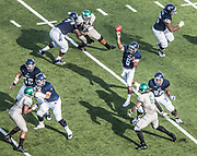 Driphus Jackson makes a pass during a game against Wagner Saturday September 5th, 2015. The Rice Owls defeated the Wagner Seahawks 56-16. (Michael Starghill, Jr.)