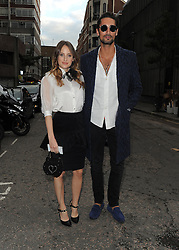 Rosie Fortescue and Hugo Taylor attend LFW s/s 2016: PPQ catwalk show at The Vinyl Factory during London Fashion Week. London, UK. 18/09/2015<br />