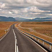Highway leading out of Reykjavik, Iceland