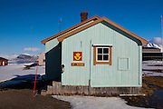 The world's most northerly post office, at the scientific research base in Ny Alesund, Svalbard, which is Norwegian territory.