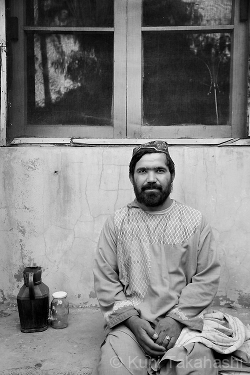 Khair Muhammad, 32, Kandahar, wire cable engineer .in Kandahar, Afghanistan on Aug 17, 2011.(Photo by Kuni Takahashi)