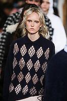 Harleth Kuusik walks the runway wearing Alexander Wang Fall 2016 during New York Fashion Week on February 13, 2016