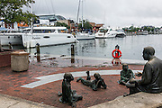 "Annapolis, Maryland - June 05, 2016: A perigean spring tide floods the Kunta Kinte-Alex Haley Memorial park located at the City Dock in historic Annapolis early Sunday morning June 5th, 2016.<br /> <br /> <br /> <br /> A perigean spring tide brings nuisance flooding to Annapolis, Md. These phenomena -- colloquially know as a ""King Tides"" -- happen three to four times a year and create the highest tides for coastal areas, except when storms aren't a factor. Annapolis is extremely susceptible to nuisance flooding anyway, but the amount of nuisance flooding has skyrocketed in the last ten years. Scientists point to climate change for this uptick. <br /> <br /> <br /> CREDIT: Matt Roth for The New York Times<br /> Assignment ID: 30191272A"
