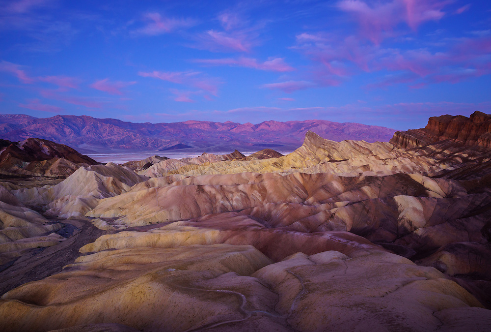 Sunrise from Zabriskie Point, Death Valley National Park, California, USA