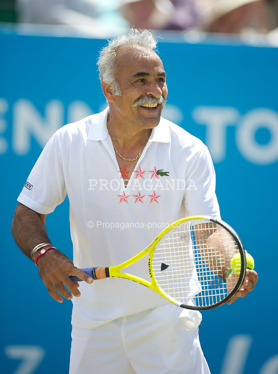 LIVERPOOL, ENGLAND - Sunday, June 20, 2010: Mansour Bahrami (IRN) on day five of the Liverpool International Tennis Tournament at Calderstones Park. (Pic by David Rawcliffe/Propaganda)