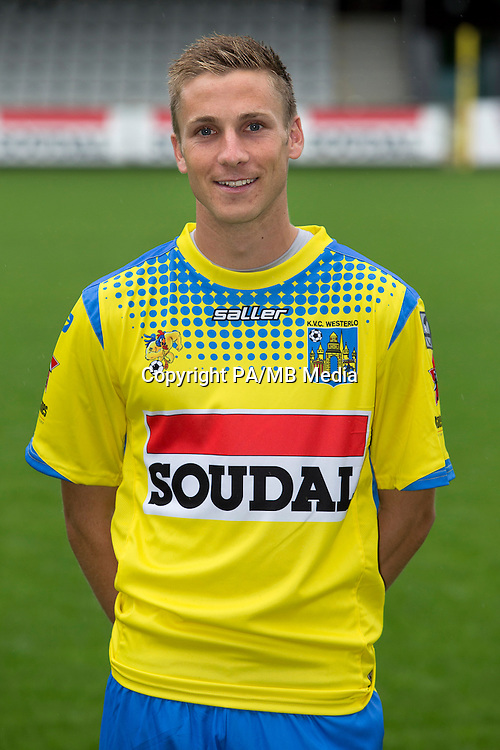 Westerlo's Nils Schouterden pictured during the 2015-2016 season photo shoot of Belgian first league soccer team KVC Westerlo, Monday 13 July 2015 in Westerlo.