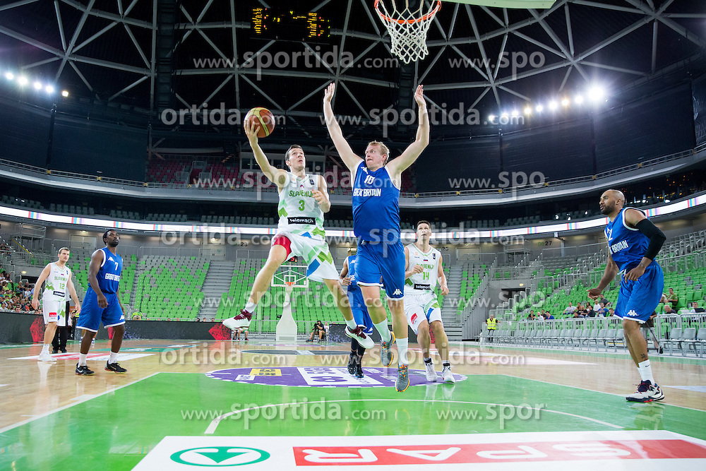 Goran Dragic of Slovenia during friendly basketball match between National teams of Slovenia and G. Britain, on August 20, 2016 in Arena Stozice, Ljubljana, Slovenia. Photo by Urban Urbanc / Sportida