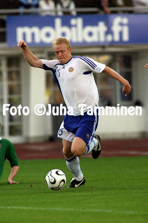 16.08.2006, Olympic Stadium, Helsinki, Finland..Friendly Internatinal Match, Finland v Northern Ireland..Aki Riihilahti - Finland.©Juha Tamminen.....ARK:k