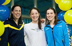 Anja Carman, Anja Klinar and Nastja Govejsek during swimming competition Dr.Fig Kranj 2013 on January 19, 2013 in Olympic pool, Kranj Slovenia. (Photo By Vid Ponikvar / Sportida)