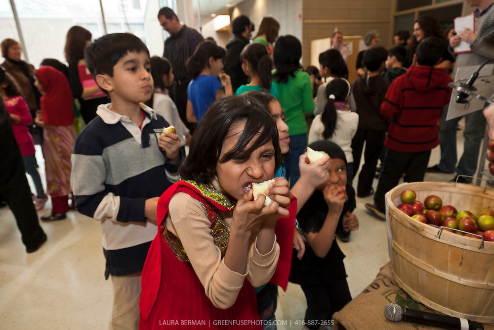 FoodShare's Great Big Crunch, March 10, 2011 at Thorncliffe Park Public School.