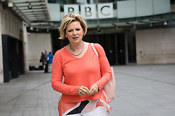 © Licensed to London News Pictures. 23/07/2017. LONDON, UK.  ANNA SOUBURY leaves BBC Broadcasting House after appearing on the Andrew Marr Show.  Photo credit: Vickie Flores/LNP
