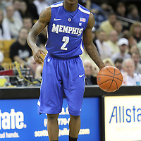 Memphis guard Antonio Barton (2) during a Conference USA NCAA basketball game between the Memphis Tigers and the Central Florida Knights at the UCF Arena on February 9, 2011 in Orlando, Florida. Memphis won the game 63-62. (AP Photo: Alex Menendez)