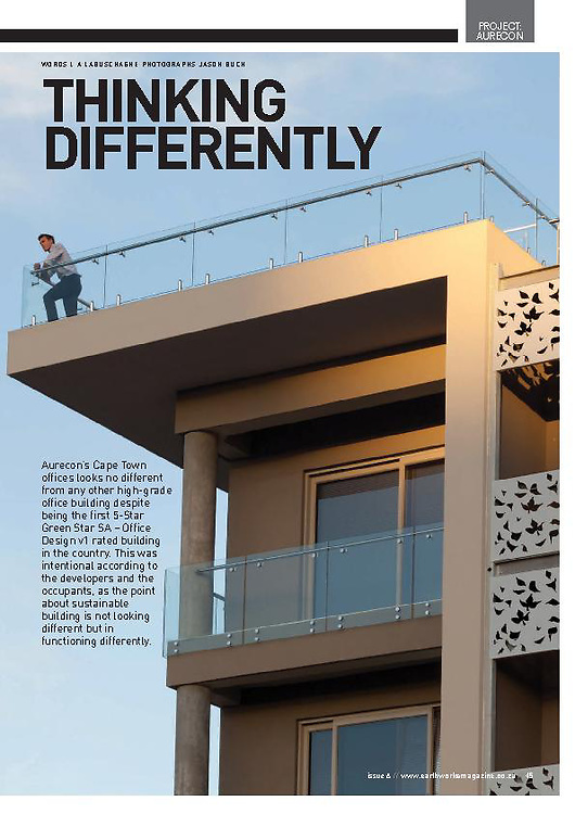 Aurecon Century City office in Earthworks magazine