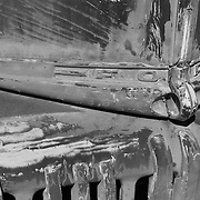 Classic Ford Truck Front Hood Ornament - Motor Transport Museum - Campo, CA - Infrared Black & White