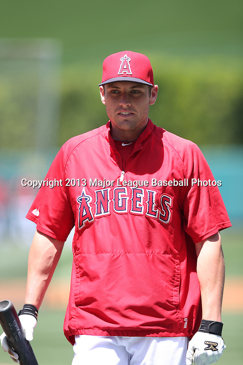 ANAHEIM, CA - JUNE 15:  Peter Bourjos #25 of the Los Angeles Angels of Anaheim looks on during batting practice before the game against the New York Yankees on Saturday, June 15, 2013 at Angel Stadium in Anaheim, California. The Angels won the game 6-2. (Photo by Paul Spinelli/MLB Photos via Getty Images) *** Local Caption *** Peter Bourjos