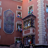 Europe, Austria. Advent Calendar building facade.