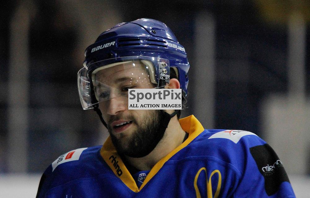 Fife Flyers V Nottingham Panthers, Elite Ice Hockey League, 13 December 2015Fife Flyers V Nottingham Panthers, Elite Ice Hockey League, 13 December 2015<br /> <br /> FIFE FLYERS #20 MICHAEL DORR WHO SCORED ON THE NIGHT