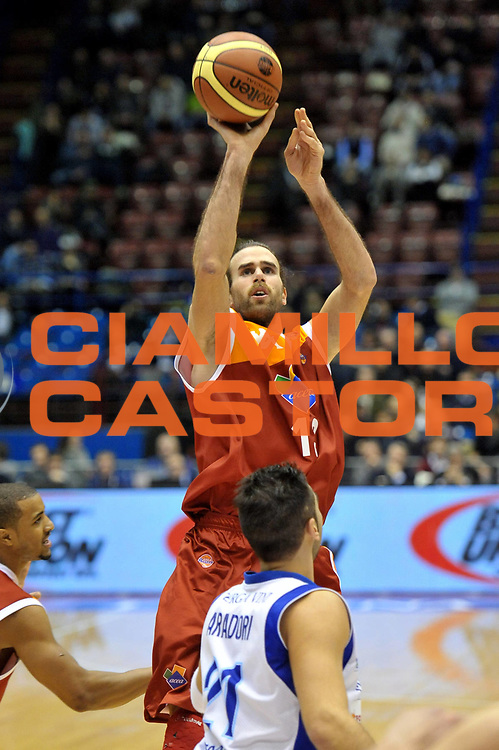 DESCRIZIONE : Milano Coppa Italia Final Eight 2013 Quarti di Finale FoxTown Cantu Acea Roma<br /> GIOCATORE : Luigi Datome<br /> CATEGORIA : Tiro<br /> SQUADRA : Acea Roma<br /> EVENTO : Beko Coppa Italia Final Eight 2013<br /> GARA : FoxTown Cantu Acea Roma<br /> DATA : 07/02/2013<br /> SPORT : Pallacanestro<br /> AUTORE : Agenzia Ciamillo-Castoria/V.Tasco<br /> Galleria : Lega Basket Final Eight Coppa Italia 2013<br /> Fotonotizia : Milano Coppa Italia Final Eight 2013 Quarti di Finale FoxTown Cantu Acea Roma<br /> Predefinita :