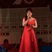 王蓓蓓 (Wang Beibei) singing I love China at the Moon festival - The big feast for the chinese community and the 70th Anniversary of China at Chinatown Square on the 15th September 2019, London, UK.