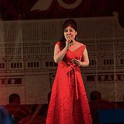 王蓓蓓 (Wang Beibei) singing I love China at the Moon festival - The big feast for the chinese community and the 70th Anniversary of China at Chinatown Square on the 15th September 2019, London, UK.