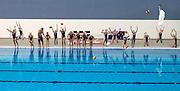 First Splash at the opening of the Sir Owen Glenn National Aquatic Centre, AUT Millennium, North Shore, Auckland, New Zealand, Saturday, August 01, 2015. Copyright photo: David Rowland / www.photosport.nz
