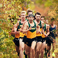 Marc Turmel leads the pack during the Regina Cougars Cougar Trot on Sat Sep 15 at Wascana Park. Credit: Arthur Ward/Arthur Images