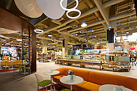 "Interior of ""Good Wine"" gourmet supermarket in Kyiv, Ukraine"