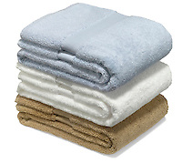 folded bath towel set