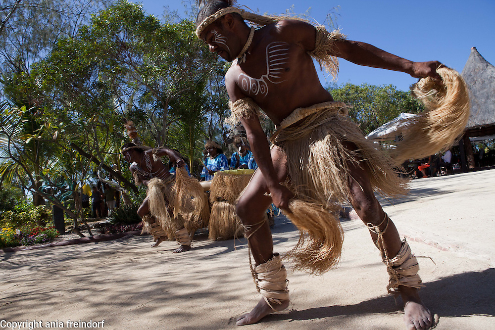 "New Caledonia, Noumea, Traditional Kanak Dance and music ""We Ce Ca"", during the environmental conference Oceania 21"