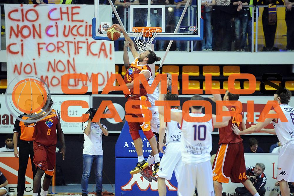 DESCRIZIONE : Biella Lega A 2012-13 Angelico Biella Acea Roma<br /> GIOCATORE : Luigi Datome<br /> CATEGORIA : Stoppata<br /> SQUADRA : Acea Roma <br /> EVENTO : Campionato Lega A 2012-2013 <br /> GARA : Angelico Biella Acea Roma<br /> DATA : 28/04/2013<br /> SPORT : Pallacanestro <br /> AUTORE : Agenzia Ciamillo-Castoria/Max.Ceretti<br /> Galleria : Lega Basket A 2012-2013  <br /> Fotonotizia : Biella Lega A 2012-13 Angelico Biella Acea Roma<br /> Predefinita :
