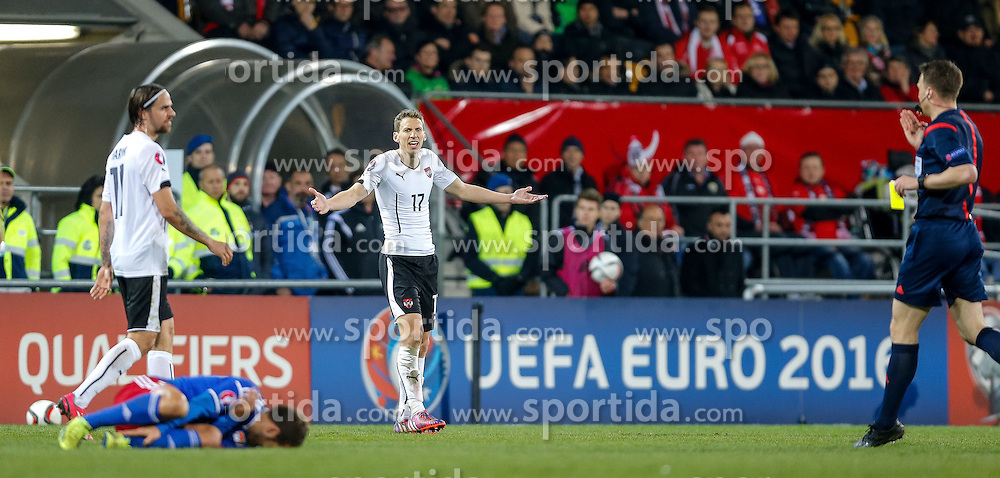 27.03.2015, Rheinpark Stadion, Vaduz, AUT, UEFA Euro 2016 Qualifikation, Liechtenstein vs Oesterreich, Gruppe G, im Bild Florian Klein (Oesterreich)// during the UEFA EURO 2016 qualifier group G match between Liechtenstein and Austria at the Rheinpark Stadium, Vaduz, Liechtenstein on 2015/03/27. EXPA Pictures © 2015, PhotoCredit: EXPA/ Peter Rinderer