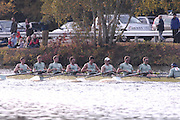 Boston, Massachusetts,  Men's Championship eights, Cambridge University, CUBC. competing in the  Forty Second, [42nd] Head of the Charles, 22/10/2006.  Photo  Peter Spurrier/Intersport Images...[Mandatory Credit, Peter Spurier/ Intersport Images] Rowing Course; Charles River. Boston. USA