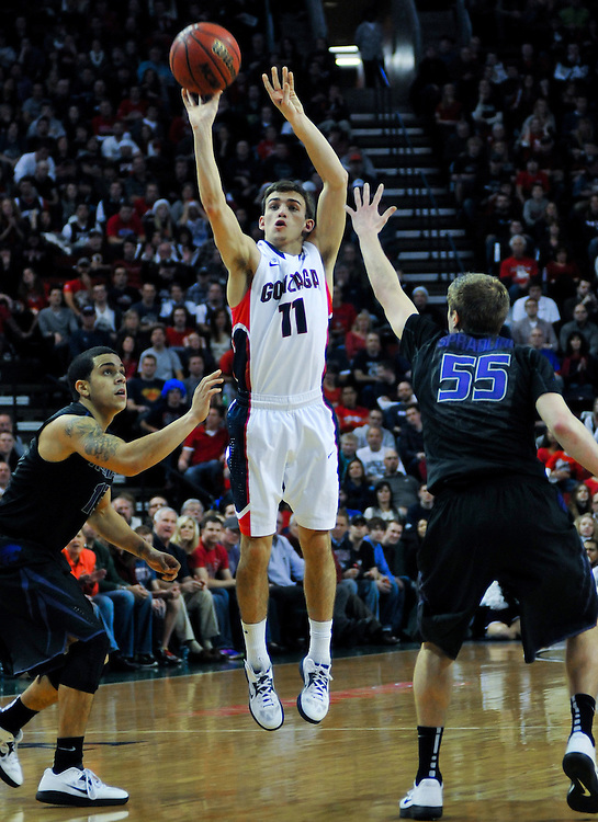 2012 Gonzaga Men's Basketball Battle in Seattle. Photo by Austin Ilg