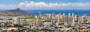 The Honolulu skyline on Oahu