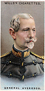 Alexandru Averescu (1859-1938) Romanian military leader and politician; three times premier of Romania   Chromolithograph, 1917 Colour.