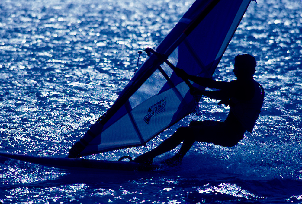 Windsurfer in sillouette