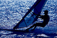 Windsurfer in sillouette