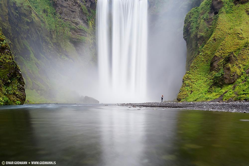 Skogafoss waterfall is in Skogá River in south-Iceland.