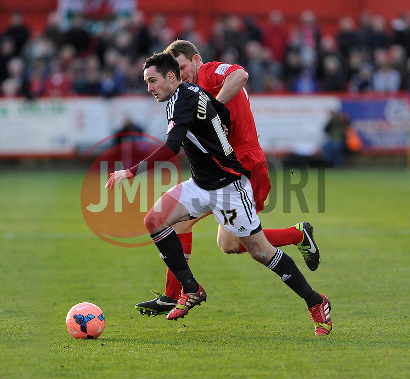 Bristol City's Greg Cunningham in action against Tamworth - Photo mandatory by-line: Dougie Allward/JMP - Tel: Mobile: 07966 386802 08/12/2013 - SPORT - Football - Tamworth - The Lamb Ground - Tamworth v Bristol City - FA Cup - Second Round