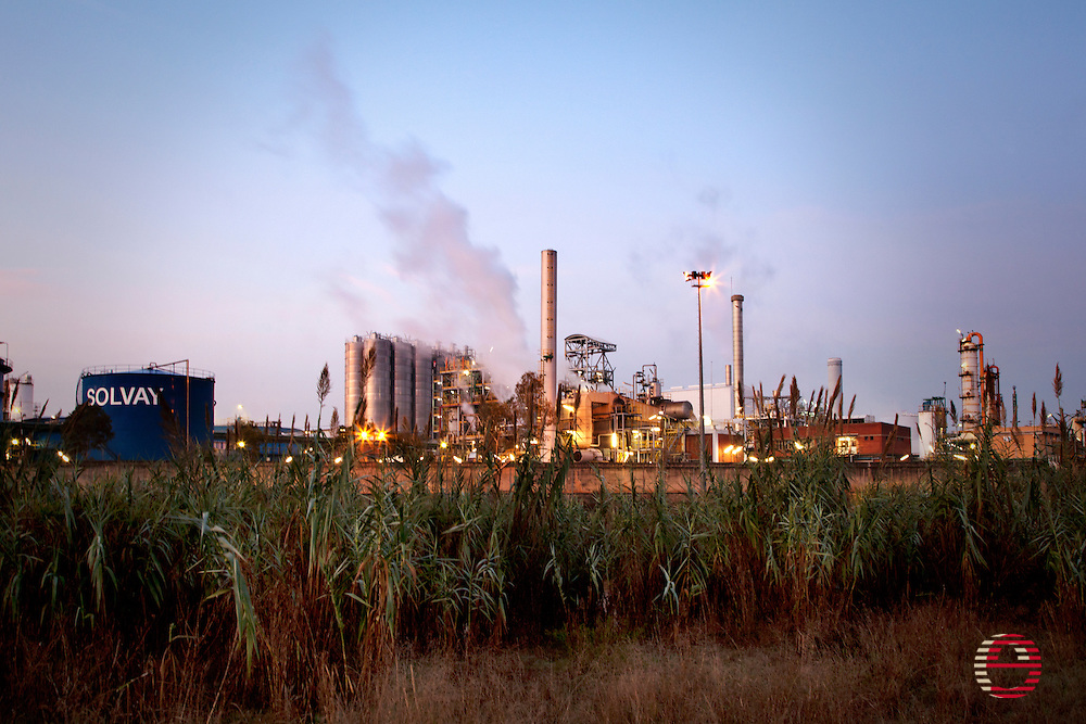 Solvay chemical plant in Martorell (Barcelona.