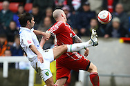 Swindon - Saturday March 20th, 2010: Simon Lappin of Norwich and Jon-Paul McGovern of Swindon in action during the Coca Cola League One match at The County Ground, Swindon. (Pic by Paul Chesterton/Focus Images)